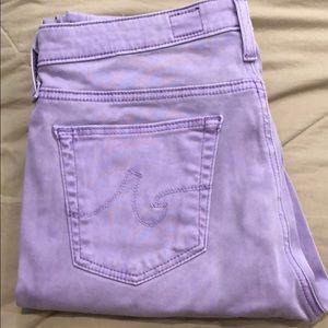 AG Purple Cigarette Leg pants